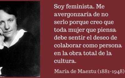 """Mujer del mes Symetrías: María de Maeztu. """"Soy feminista, me avergonzaría no serlo"""""""