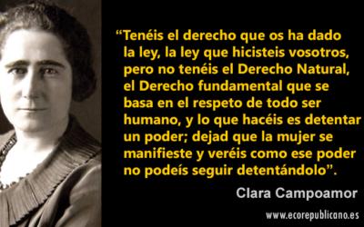 Mujer del mes Symetrías: Clara Campoamor, impulsora del sufragio femenino y defensora de la igualdad