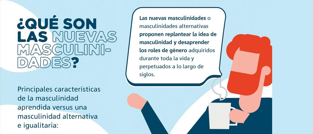 Infografía sobre las nuevas masculinidades