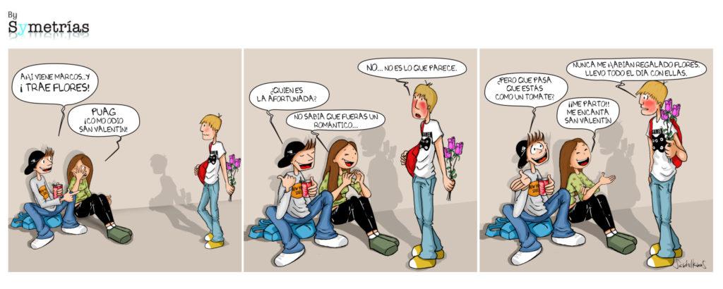 Tira cómica de Symetrías: Por San Valentín regala igualdad